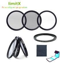 액세서리 UV CPL ND4 필터 렌즈 및 어댑터 링 케이스 키트 Canon Powershot SX540 SX530 SX520 SX50 SX40 SX30 SX20 HS 카메라 용