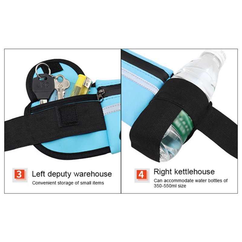 الرجال النساء تشغيل الخصر حقيبة الرياضة حزمة رياضة حقيبة اللياقة الدراجات حزام حقيبة فاني الخصر الحقيبة السفر في الهواء الطلق سباق المشي