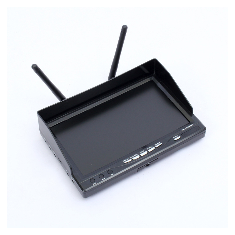 Boscam FPV RX-LCD5802 5.8G 40CH HD 800*480p 7 LCD Screen Monitor Receiver Black / White Built-in BatteryBoscam FPV RX-LCD5802 5.8G 40CH HD 800*480p 7 LCD Screen Monitor Receiver Black / White Built-in Battery