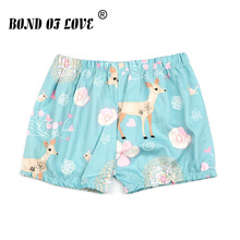 Short Pants Summer For Boys Girls Cotton Kids Beach Shorts Children Clothes Deer Floral Print Toddler Baby Clothing Short Pants