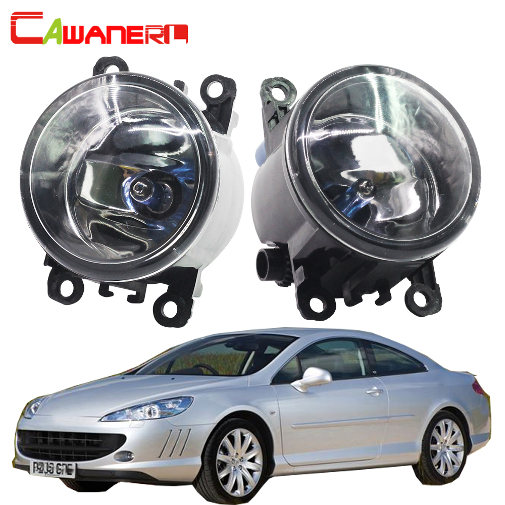 купить Cawanerl 1 Pair 100W H11 Car Light Source Halogen Fog Light Daytime Running Lamp DRL 12V For Peugeot 407 Coupe 6C_ 2005-2011 недорого