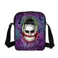 2017 Hot Engraçado Harley Quinn Coringa Impressão Bolsa de Ombro Messenger Bags Para As Mulheres Homens Casual Crossbody Bag Mini Bolsa de Banda Desenhada