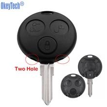 OkeyTech для Mercedes Benz Smart для двух ключей Forfour Shell 3 кнопки Замена дистанционного ключа автомобиля чехол с Uncut Blade