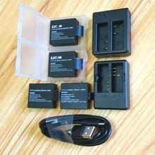 SJCAM аккумулятор Sj4000 1350/1050 мАч чехол Зарядное устройство для SJCAM Sj5000 M10 C30R H9R H6S theye T5 E7 аксессуары для экшн-камеры