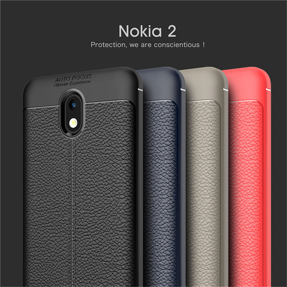 For <font><b>Nokia</b></font> <font><b>2</b></font> Two Case Luxury Litchi Striae Soft Silicone Cover Shockproof Case For <font><b>Nokia</b></font> <font><b>2</b></font> TA-<font><b>1029</b></font> TA-1035 TA-1007 Phone Cases image