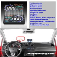 Informações Da Tela Do Projetor do carro Para SEAT Ibiza/SEAT Leon Safe Driving Refkecting Brisa HUD Head Up Display|up display|screen for projector|screen for car -