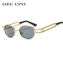 Fashion Round Sunglasses Women Men Vintage Metal Frame Steampunk Sun Glasses Men Shades UV400 Oculos O22 стоимость