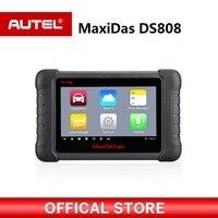 Autel MAXIDAS DS808 OBDII Автомобильный сканер OBD2 инструменту диагностики для ЭБУ информации ключ кодирования код читателя PK Maxisys MS906