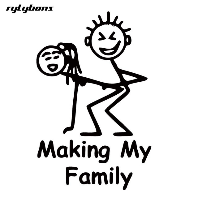 Rylybons Special Car Stying For Making My Family Stick People Decal Funny  Car Vinyl Sticker Motorcycle