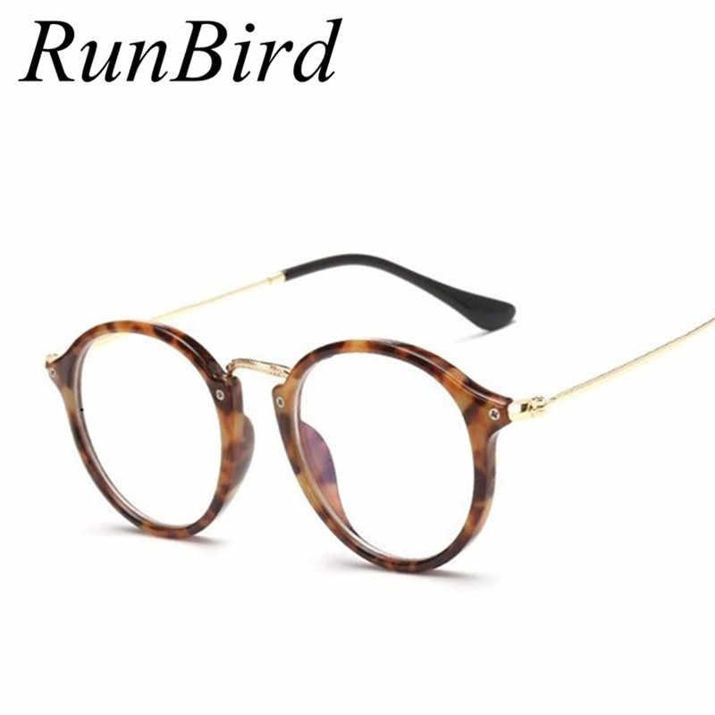 RunBird 2018 круглые очки оправа женские оправа для очков от близорукости мужские компьютерные винтажные обычные очки Lunettes De Soleil R538
