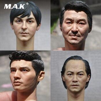 1:6 Европейская американская мужская головка скульптурная резьба для 12 дюймовых экшн фигурок аксессуары для тела