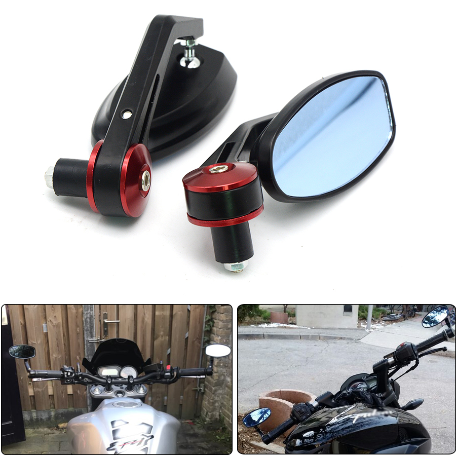 Motorcycle Mirror Scooter Racer Rearview Side View Handle Bar Ends Mirror for KAWASAKI ninja 300 250 z750 zx10r Hyosung GT250R universal motorcycle scooters racer rearview side view handle bar end mirror for yamaha yzf1000 r1 yzf600 r6 fz1 fz6 fz400 fz8