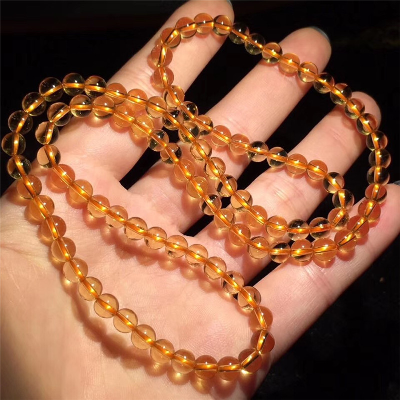Natural Citrine Quartz Bracelet (1)