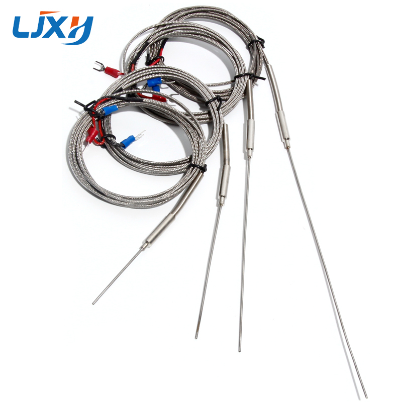 LJXH K-Type Thermocouple 1.5mm X 50mm/100mm/150mm/200mm Probe Temperature Sensors 1m/2m/3m/4m/5m Thermocouple
