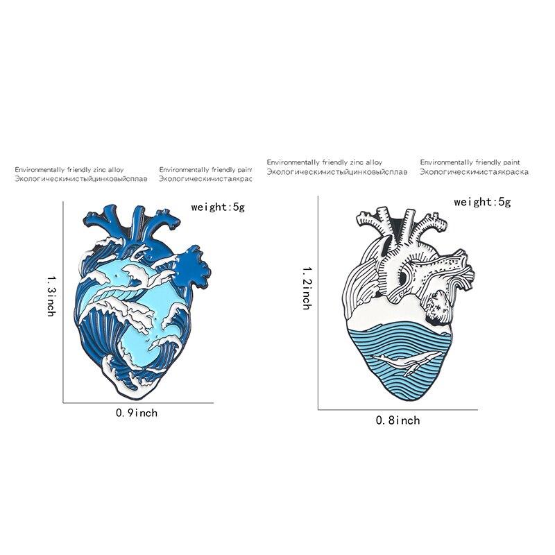 Super Bargain Enamel Pin Sets ! Cartoon TV Show Koala Sloth Cat Ocean Heart Brooches Badges Lapel pins 4