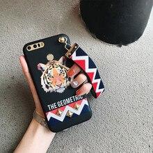 Tiger rabbit Animal Stud Rivet strap Case For Huawei P9 P10 plus mate 7 8 9 Honor 6 V8 4X 5X 6X NOVA Soft TPU Back Funda Cover