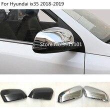 Автомобильный Стайлинг декоративная ручка заднего вида боковое зеркало заднего вида накладка рамка 2 шт для hyundai IX35