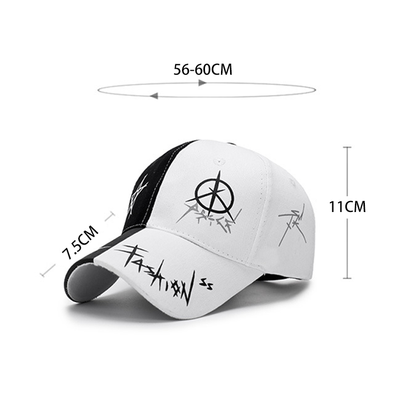 Black White Stitching Baseball Cap Man Woman Leisure Simple Style Hat  Summer Fashion Bones Teenager Hip Hop Snapback Caps CP0120-in Baseball Caps  from ... c47ae004a08