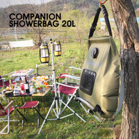Outdoor Bathing Bag Self drive Camping Solar Hot Water Bottle Portable Wild Sun 20l