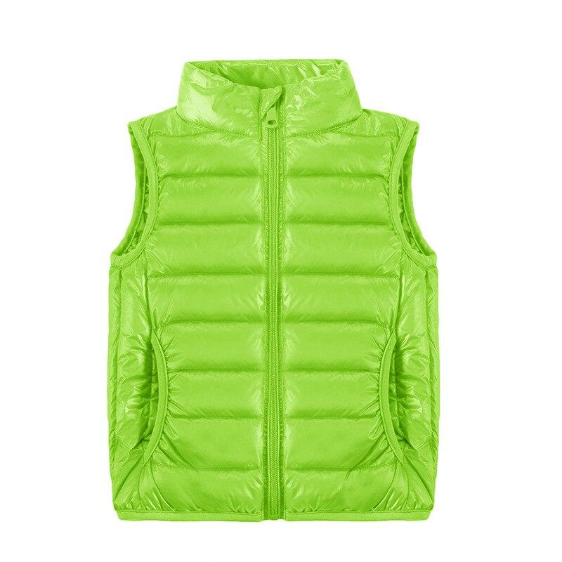 2021 New Children Vests Winter Ultra Light White Duck Down Vest Coats Boys Girls Sleeveless Jacket Kids Windproof Warm Waistcoat 3