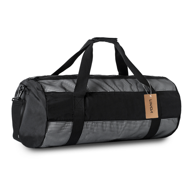 76e9ed2757 Lixada Mesh Duffel Gear Gym Bag Snorkel Equipement Carry Bag for Mask  Snorkel Fins Scuba Diving