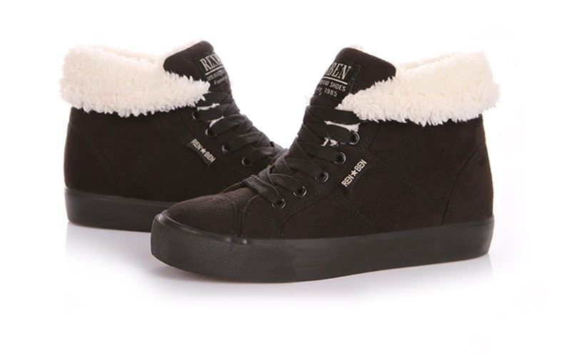 New Women Winter Faux Suede Leather Warm Plush Ankle Boots Autumn Women Shoes Fur Snow Boots Comfortable Running Shoes Sneakers 54