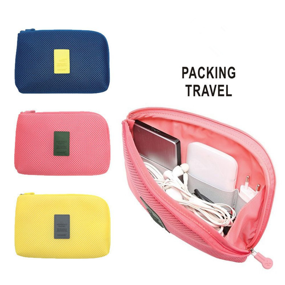 1PC Travel Earphone Cable USB Digital Cosmetic Bag Portable  Gadget Organizer Storage Makeup  Bag