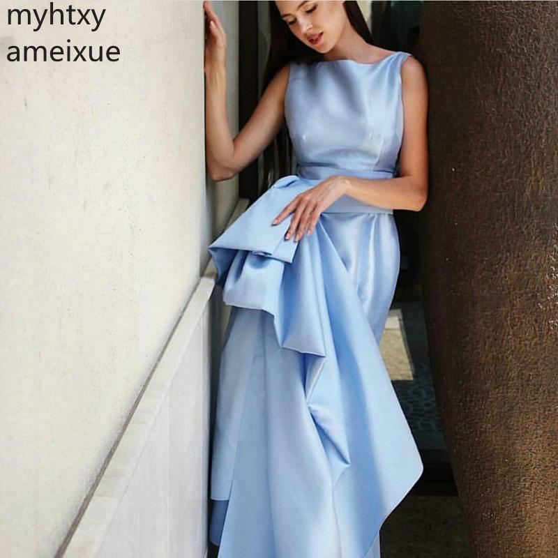 New Arrival Taffeta Cheap Blue Evening Dress Custom 2019 Vestidos De Noche Long Dresses Plus Size Suknia Wieczorowa Ever Pretty
