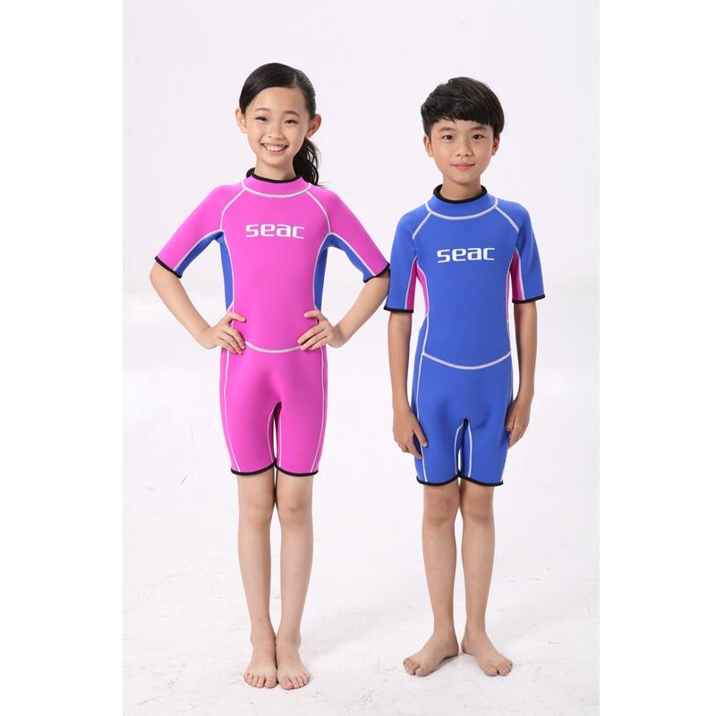 2.5mm 네오프렌 수영복 키즈 베이비 보이즈 소녀 - 스포츠웨어 및 액세서리