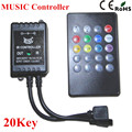1PC Music IR Keys IR Remote Controller for 3528 5050 RGB LED Strip lights Mini Controller