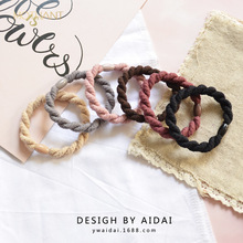New simple thick twist hair ring personality wild tie band elastic rope headwear accessories