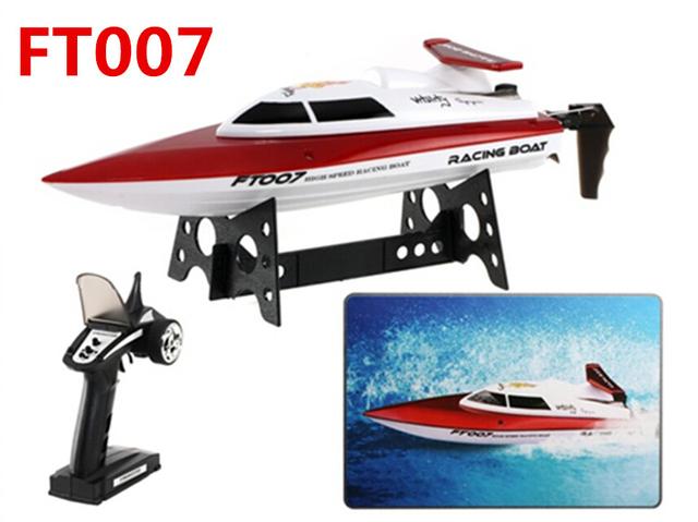( en la acción ) Feilun FT007 barcos de control remoto mejorado 2.4 G control remoto juguetes 4CH agua de refrigeración alta velocidad del barco RC