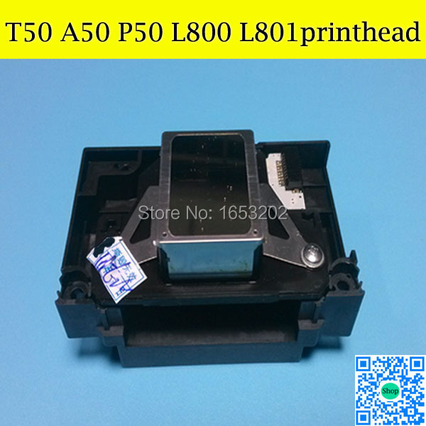 1 Piece Hight Quality Nozzle Printhead Print Head For EPSON T50 L800 A50 P50 L801 R280 R290 RX690 RX610 Printer Head