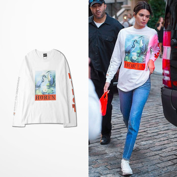 T-shirt Horen Kanye Hip Hop manches longues Unisex
