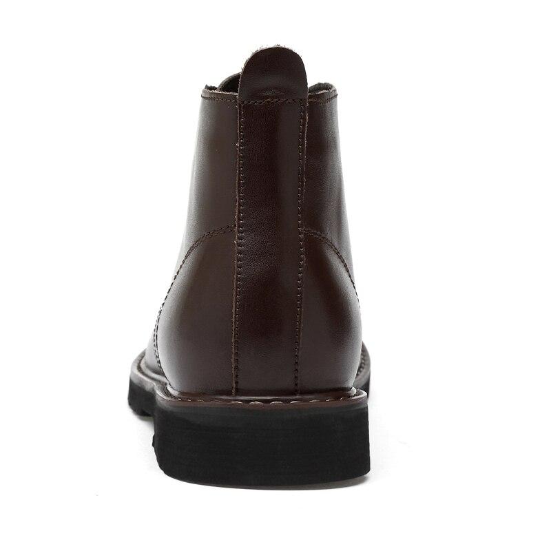 Ayakk.'ten Chelsea Çizmeler'de Valstone Lüks Marka erkek Hakiki Deri Çizmeler Su Geçirmez bileğe kadar bot Yüksek Üst Ayakkabı erkek ayakkabısı Botas Homme Artı boyutu 48'da  Grup 3