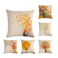 Декоративные подушки для дивана с желтыми листьями, 45x45 ZY592
