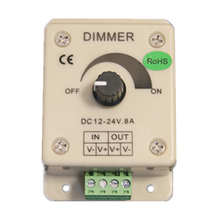 LED Dimmer dedicated DC 12V 24V 8A Single Color LED Controller 96W Adjustable Brightness Controller For