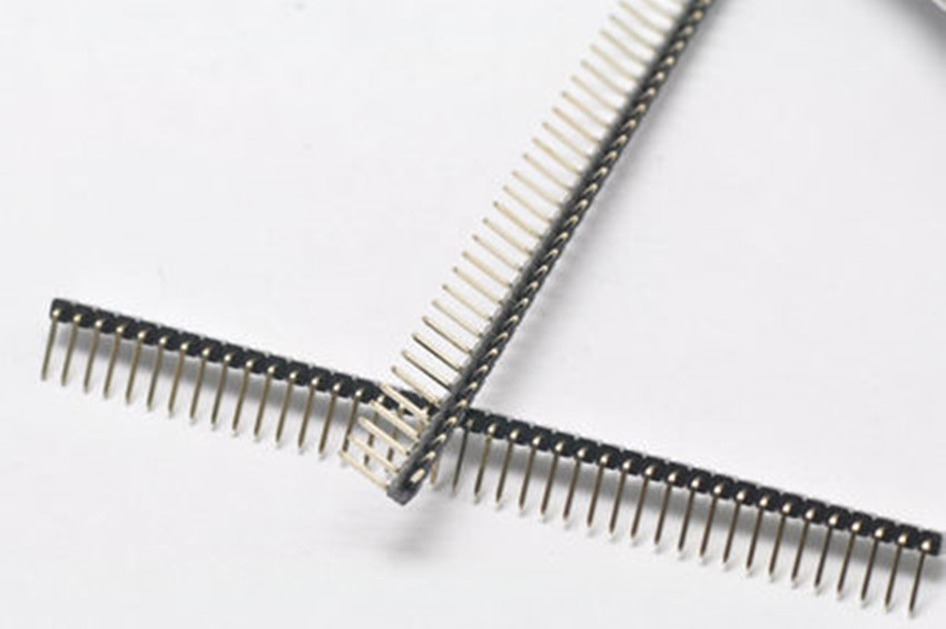 10Pcs Pitch 2.54mm 1x40 Pin 40 Pin Single Row Right Angle Male Pin Header Strip Connector 5pcs pitch 2 54mm 2x40 pin 80 pin double row right angle male pin header strip connector