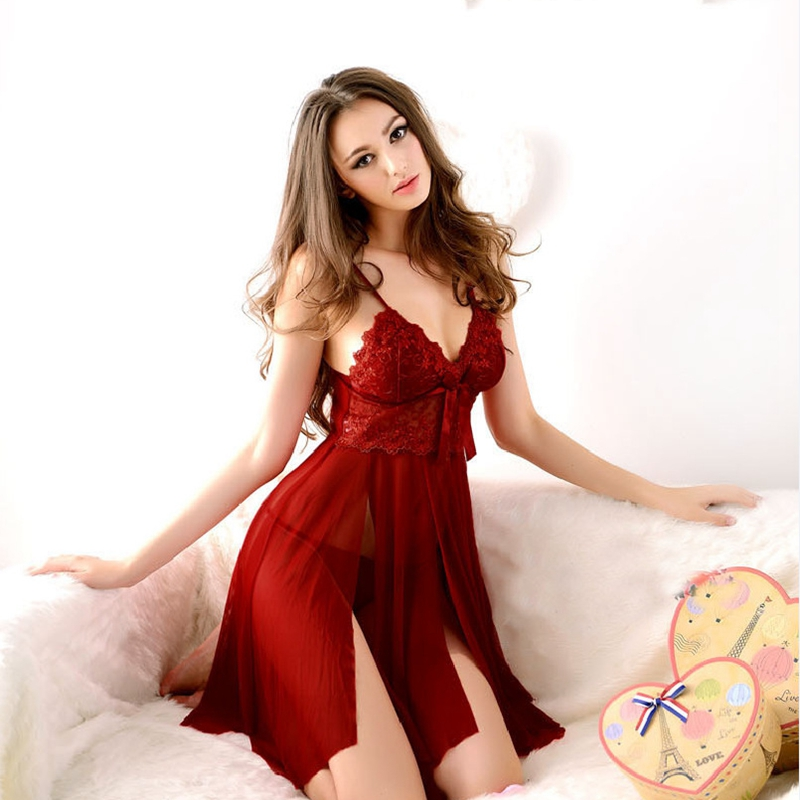 Aliexpresscom  Buy Romantic Women Sexy Nightwear Black -4160