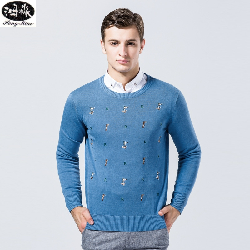 Autumn Men Pullovers Sweater New Solid Color O-neck Coton Long-sleeves Knitted Casual Thin Sweater Comfortable Tops