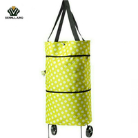 Fashion Japanese Home Multi Functional Oxford Cloth Tug Package Can Be Folded Hand Pulled To Buy