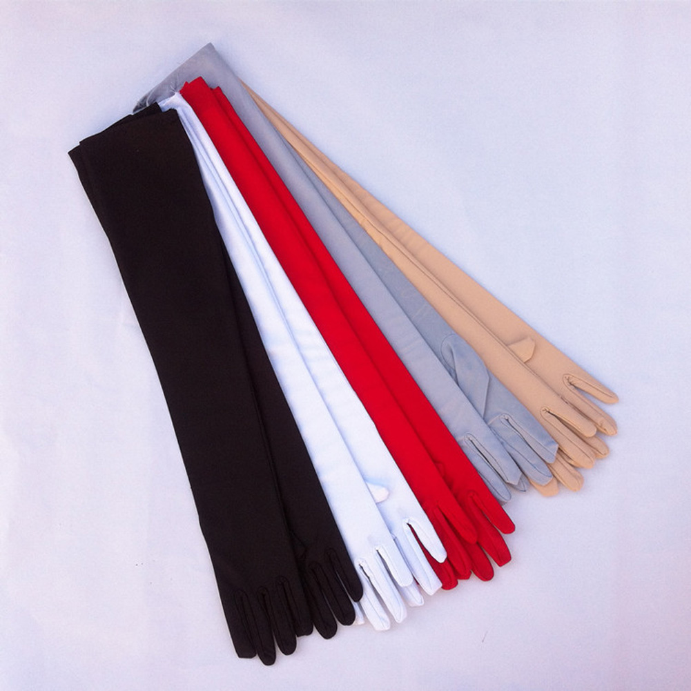 Sunscreen-Gloves White Long-Design Cotton Summer Black New Anti-Uv Red Lengthen High-Elastic