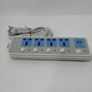 Image 4 - AU UK штепсельная вилка европейского стандарта к универсальной розетке 10A 2500 Вт умная штепсельная розетка адаптер питания 2usb Удлинительный кабель электрическая розетка