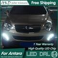 AKD Car Styling LED DRL Lámpara de La Niebla para Opel Antara 2012 Antara LED DRL Daytime Running Light Luz de Niebla Parking Señal de Accesorios