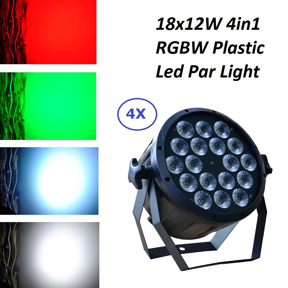 Factory Direct Sales 18X12W RGBW 4 Colors LED Flat Par RGBW Color Mixing Dj Wash Lights Stage Uplighting KTV Disco DJ DMX512 fast shipping led 54x3w rgbw led flat par rgbw color mixing dj wash light stage uplighting ktv disco dj dmx512