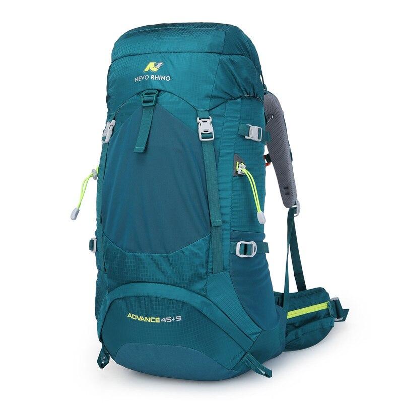 50L NEVO rinoceronte impermeable mochila Unisex paquete de viaje bolsa senderismo al aire libre montañismo escalada Camping mochila para hombre