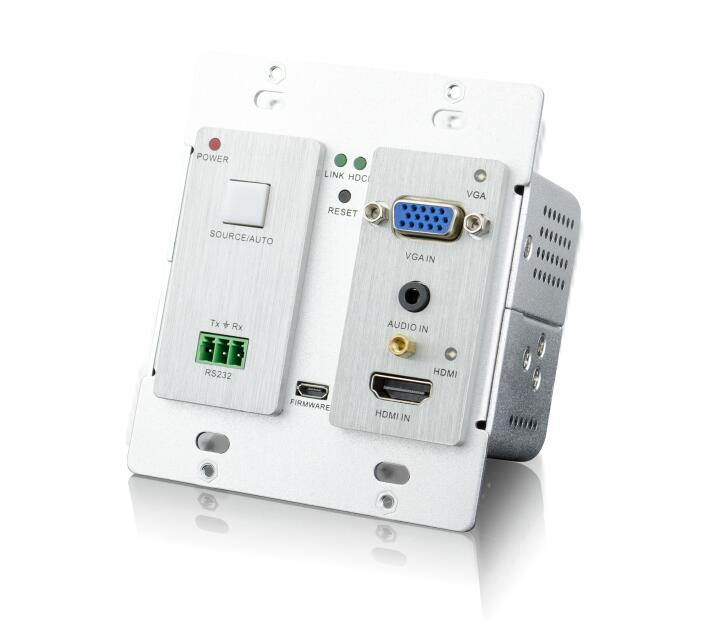 US $499 99 |TPHD405PT WPB 2 gang Decora style wall mountable HDBaseT  transmitter for HDMI or VGA/audio and RS232 up to 70M(transmitter only)-in  HDMI
