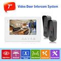 """2v1 Wired Doorbell Intercom System English/Russian 7"""" Touch Button Monitor Video Doorphone System Night Vision Entrance Machine"""