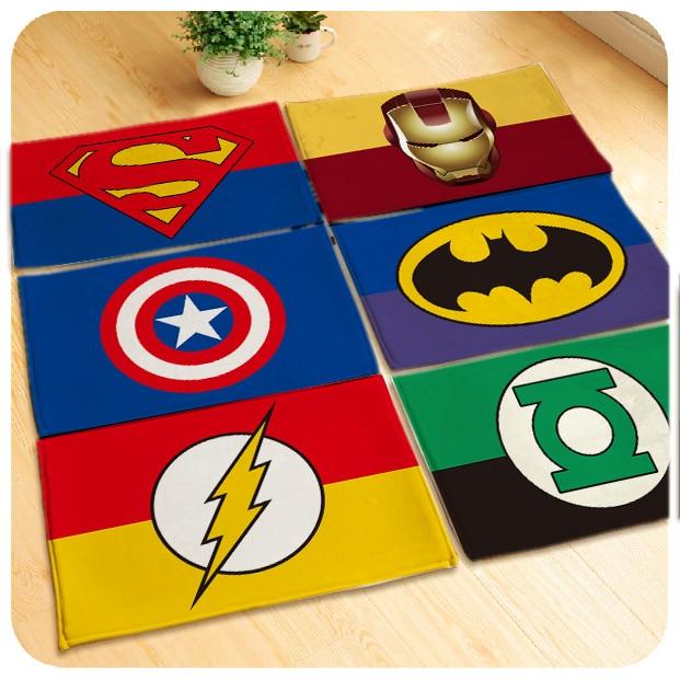 60x40cm/80x50cm/90x60cm Soft Avengers Rug Carpet Superman/batman/Captain  America Mat
