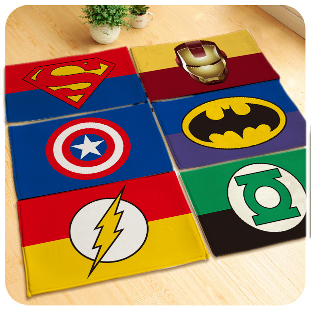 60x40cm/80x50cm/90x60cm Soft Avengers Rug Carpet Superman/batman/Captain  America Mat